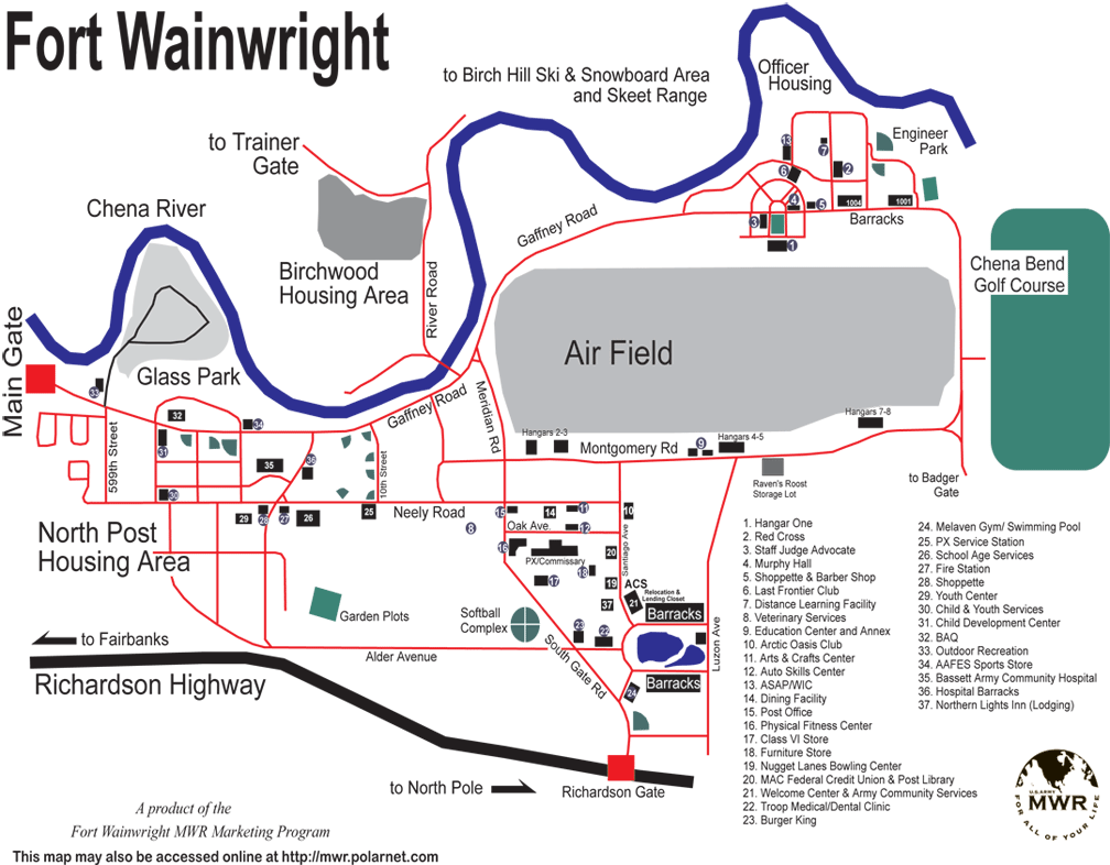 Map Of Fort Wainwright Airfield Pictures To Pin On