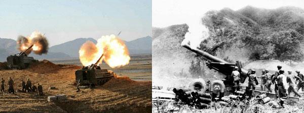 북한군 야포와 다련장 로켓포, 한국전쟁 당시 야포